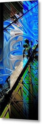 Merged - Painted Blues Metal Print by Jon Berry