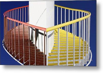 Merging Steps Metal Print by Robert Woodward