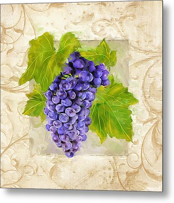 Merlot II Metal Print by Lourry Legarde