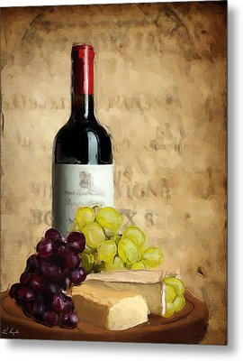 Merlot Iv Metal Print by Lourry Legarde
