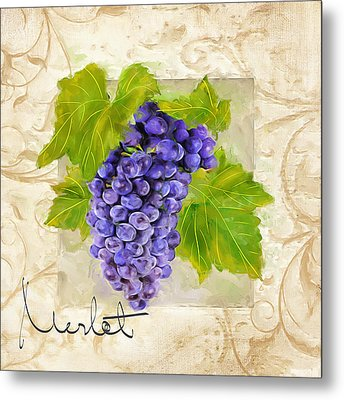 Merlot Metal Print by Lourry Legarde