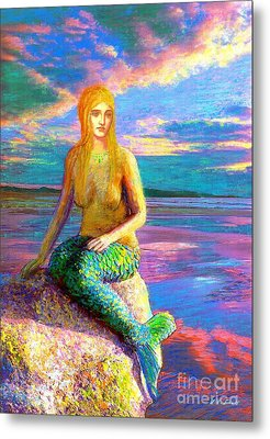 Mermaid Magic Metal Print by Jane Small