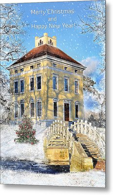 Merry Christmas And Happy New Year Metal Print by Gynt