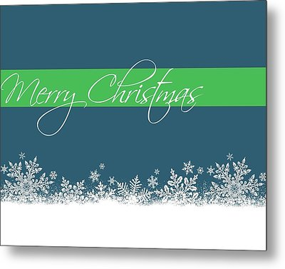 Merry Christmas Metal Print by Cathie Tyler
