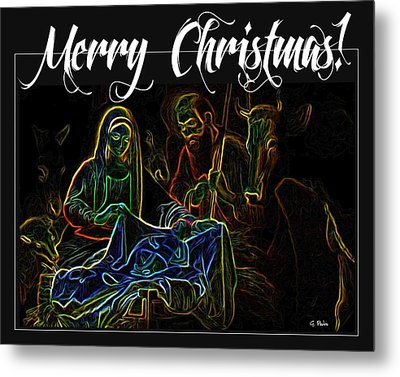 Merry Christmas Metal Print by George Pedro