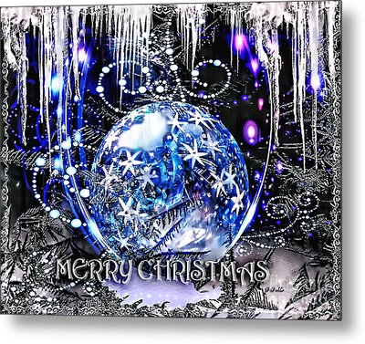 Merry Christmas Metal Print by Mo T
