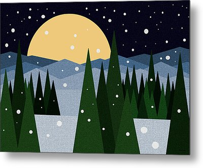 Merry Christmas Metal Print by Val Arie