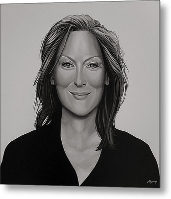 Meryl Streep Metal Print by Paul Meijering