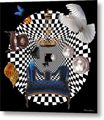Mess In Wonderland  Metal Print by Mark Ashkenazi