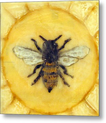Message Of The Bees 1 Metal Print by Janelle Schneider