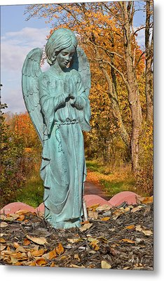 Messenger Between Two Worlds Metal Print by Christine Till