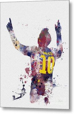Messi Metal Print by Rebecca Jenkins
