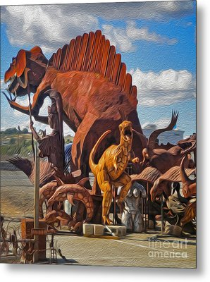 Metal Dinosaurs - 05 Metal Print by Gregory Dyer