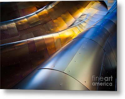Metal Waves Metal Print by Inge Johnsson