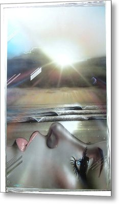 'metallic Visions' Metal Print by Christian Chapman Art