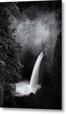 Metlako Falls Dark Metal Print by Darren  White