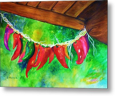 Mexican Jalapeno Peppers Metal Print by Jane Ricker