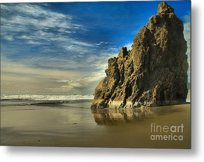 Meyers Beach Stacks Metal Print by Adam Jewell