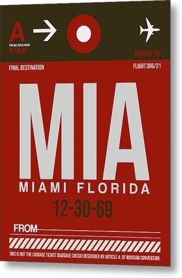 Mia Miami Airport Poster 4 Metal Print by Naxart Studio