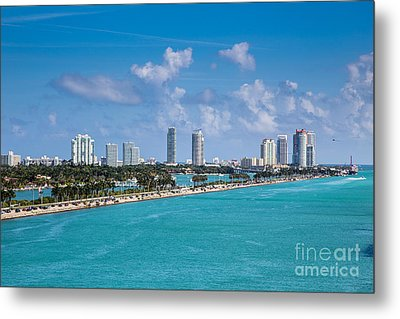 Miami Beach Skyline Metal Print by Rene Triay Photography