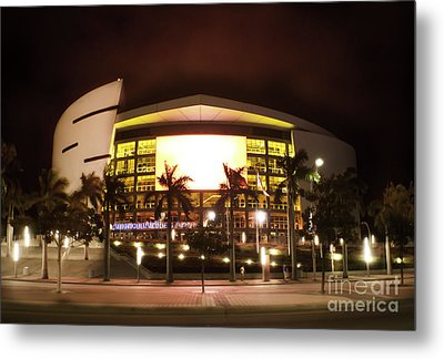 Miami Heat Aa Arena Metal Print by Andres LaBrada