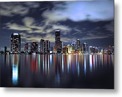 Miami Skyline Metal Print by Gary Dean Mercer Clark