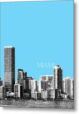 Miami Skyline - Sky Blue Metal Print by DB Artist
