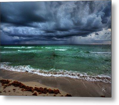 Miami - South Beach Storm 001 Metal Print by Lance Vaughn