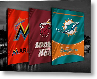 Miami Sports Teams Metal Print by Joe Hamilton
