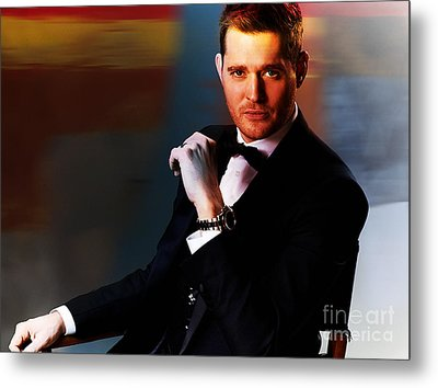 Michael Buble Metal Print by Marvin Blaine