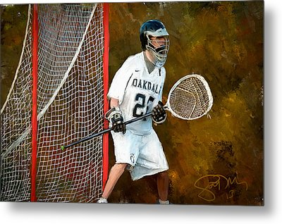 Michael In Goal Metal Print by Scott Melby