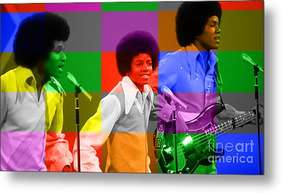 Michael Jackson And The Jackson 5 Metal Print by Marvin Blaine