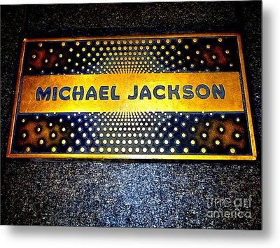 Michael Jackson Apollo Walk Of Fame Metal Print by Ed Weidman