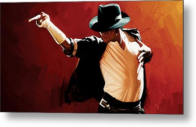 Michael Jackson Artwork 4 Metal Print by Sheraz A