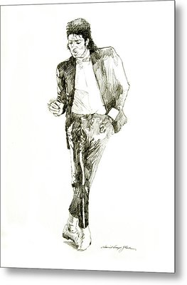 Michael Jackson Billy Jean Metal Print by David Lloyd Glover