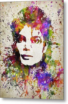 Michael Jackson In Color Metal Print by Aged Pixel