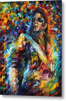 Michael Jackson - Palette Knife Oil Painting On Canvas By Leonid Afremov Metal Print by Leonid Afremov