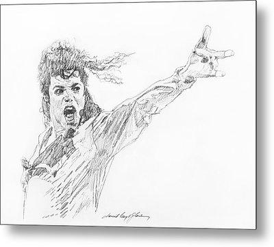 Michael Jackson Power Performance Metal Print by David Lloyd Glover