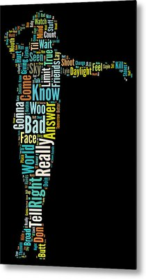 Michael Jackson Typography Poster Bad Metal Print by Florian Rodarte