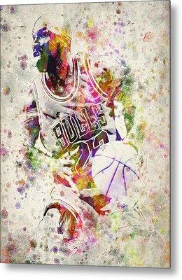 Michael Jordan Metal Print by Aged Pixel