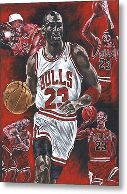 Michael Jordan Metal Print by David Courson