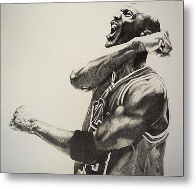 Michael Jordan Metal Print by Jake Stapleton