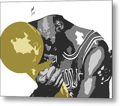 Michael Jordan Metal Print by Mike Maher