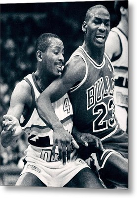 Michael Jordan Trying To Get Position Metal Print by Retro Images Archive