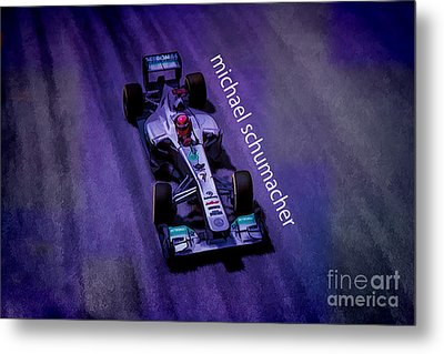 Michael Schumacher Metal Print by Marvin Spates