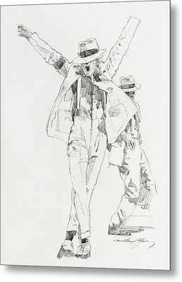 Michael Smooth Criminal Metal Print by David Lloyd Glover