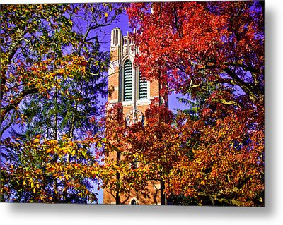 Michigan State University Beaumont Tower Metal Print by John McGraw