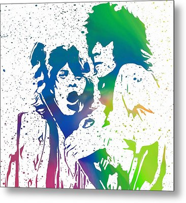 Mick Jagger And Keith Richards Metal Print by Dan Sproul