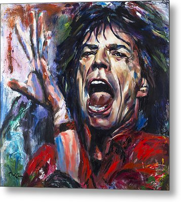 Mick Jagger Metal Print by Mark Courage