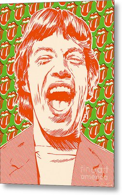 Mick Jagger Pop Art Metal Print by Jim Zahniser